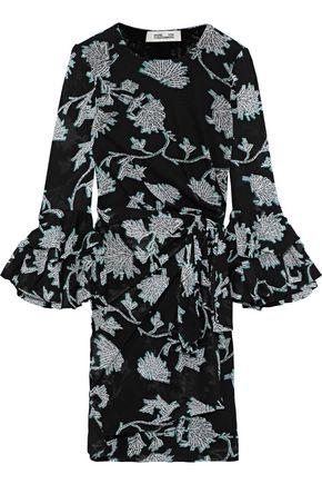 DIANE VON FURSTENBERG Faridah floral-print mesh mini wrap dress