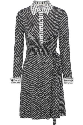 DIANE VON FURSTENBERG Didi printed silk-jersey mini wrap dress