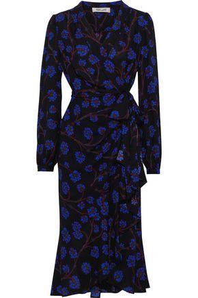 DIANE VON FURSTENBERG Carla floral-print crepe de chine wrap dress