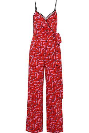 DIANE VON FURSTENBERG Barry printed cady wrap jumpsuit