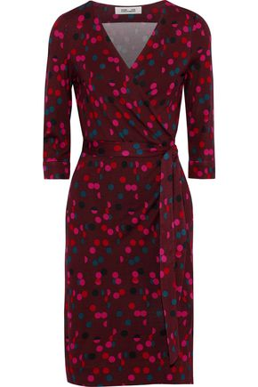 DIANE VON FURSTENBERG New Julian Two polka-dot silk-jersey wrap dress