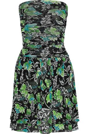 a427f7075665 DIANE VON FURSTENBERG Karia strapless printed mesh mini dress
