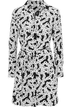DIANE VON FURSTENBERG Prita printed silk mini shirt dress