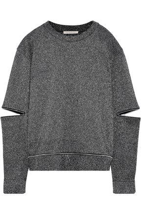 CHRISTOPHER KANE Zip-detailed cutout Lurex sweater