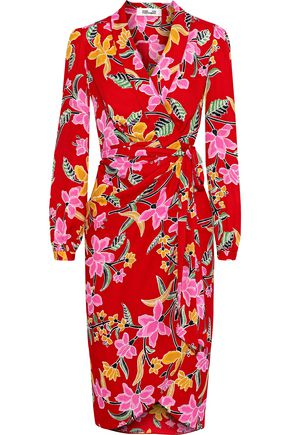 DIANE VON FURSTENBERG Carla printed crepe de chine wrap dress
