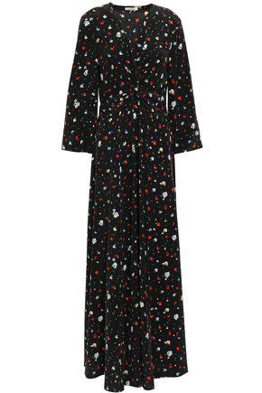 GANNI Nolana floral-print silk crepe de chine maxi dress