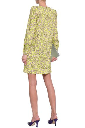 BAUM UND PFERDGARTEN Floral-print stretch-jersey mini dress