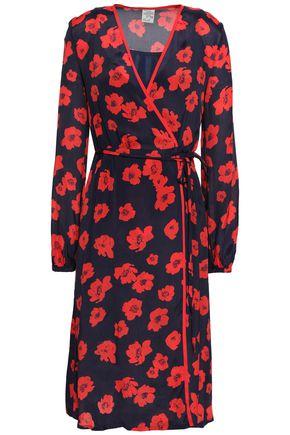 BAUM UND PFERDGARTEN Floral-print crepe de chine midi wrap dress