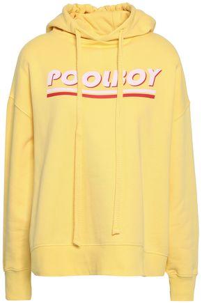 BAUM UND PFERDGARTEN Printed cotton-blend fleece hoodie