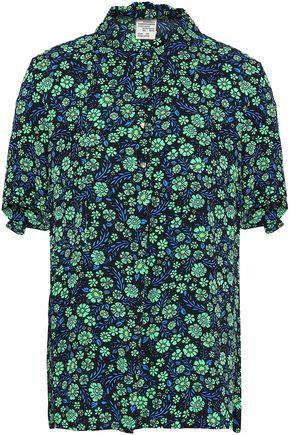 BAUM UND PFERDGARTEN Floral-print crepe shirt
