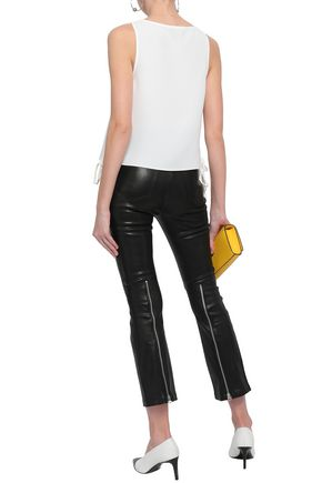 RAG & BONE Lace-up crepe top