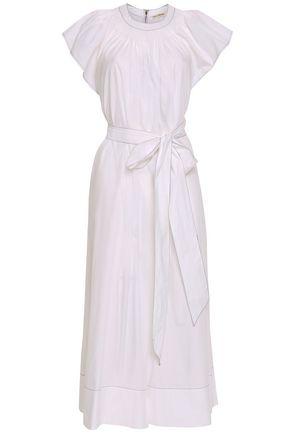ULLA JOHNSON Coralie cropped cotton-poplin jumpsuit