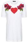 DOLCE & GABBANA Appliquéd cotton-jersey T-shirt