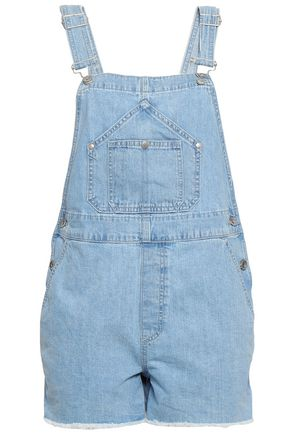 RAG & BONE Frayed denim overalls