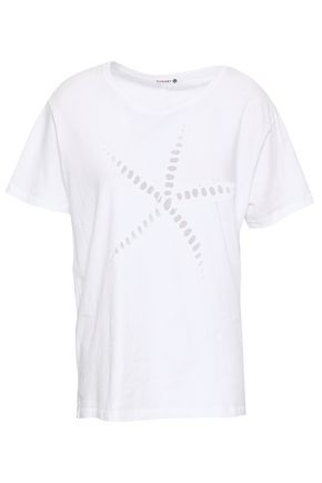 SUNDRY Cutout Pima cotton-jersey T0shirt