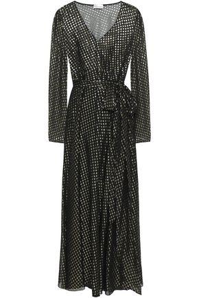 REDValentino Metallic fil coupé midi dress