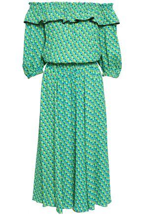 PHILOSOPHY di LORENZO SERAFINI Off-the-shoulder printed crepe midi dress