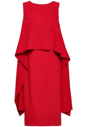 GIVENCHY Draped layered crepe dress