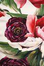 DOLCE & GABBANA Ruched floral-print stretch-silk mini dress