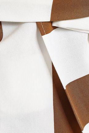 N°21 One-shoulder striped cotton-blend dress