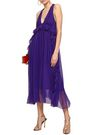 N°21 Ruffled silk-georgette midi dress