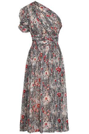 N°21 One-shoulder silk crepe de chine midi dress
