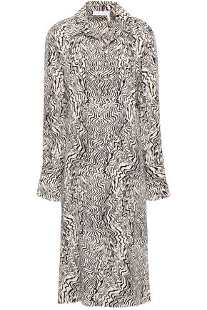 CHLOÉ Printed silk crepe de chine shirt dress