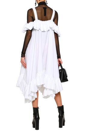 ALEXANDER MCQUEEN Cape-back silk-georgette mini dress