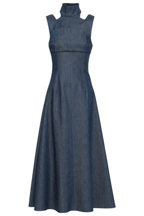 EMILIA WICKSTEAD Cutout denim midi dress