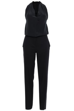 MAISON MARGIELA Paneled silk halterneck jumpsuit