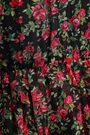 DOLCE & GABBANA Ruffle-trimmed gathered floral-print silk-chiffon midi dress