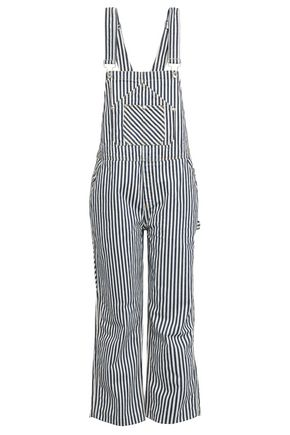 RAG & BONE Striped denim overalls