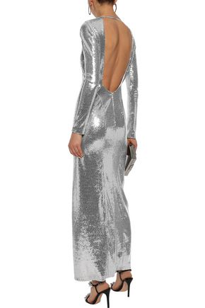 GALVAN  London Adela open-back sequined stretch-jersey gown