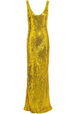 GALVAN  London Sequined silk gown