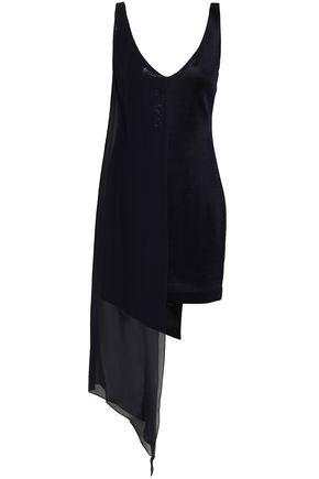 GALVAN  London Embellished stretch-knit mini dress