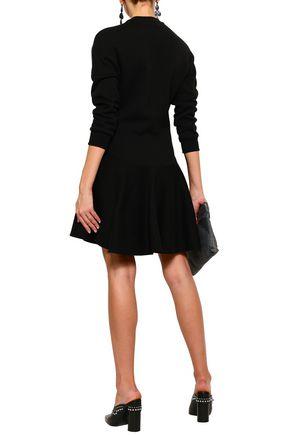 ALEXANDER MCQUEEN Embellished cotton-fleece mini dress