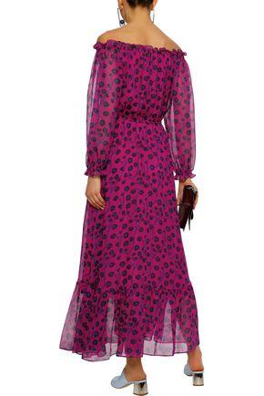 DIANE VON FURSTENBERG Camilla off-the-shoulder floral-print silk-chiffon maxi dress
