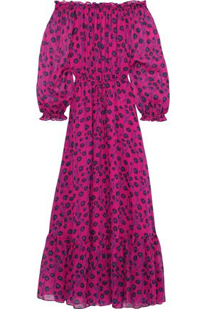DIANE VON FURSTENBERG Camilla off-the-shoulder floral-print silk-chiffon maxi dress