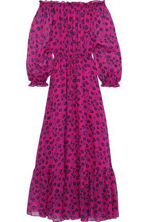 d11b603d8bf DIANE VON FURSTENBERG Camilla off-the-shoulder floral-print silk-chiffon  maxi