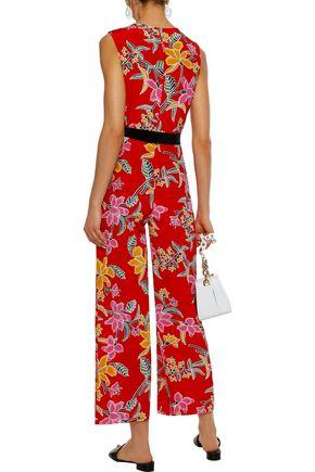 f3db364201c9 Wrap-effect floral-print silk jumpsuit | DIANE VON FURSTENBERG ...
