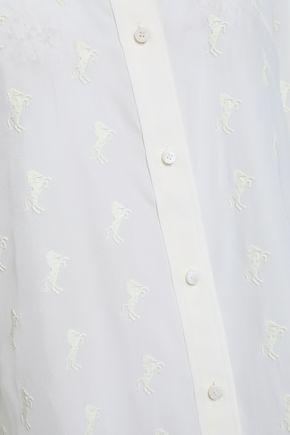 19f2b42da9551a Embroidered silk crepe de chine shirt | CHLOÉ | Sale up to 70% off ...