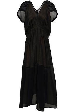 VICTORIA BECKHAM Open-back crepe midi dress