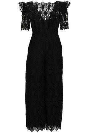 TEMPERLEY LONDON Guipure lace jumpsuit