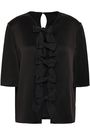 FENDI Bow-embellished satin top