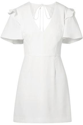 REBECCA VALLANCE Eventide ruffle-trimmed crepe mini dress