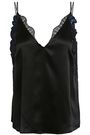 3.1 PHILLIP LIM Lace-trimmed embellished silk-satin camisole
