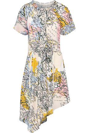 DEREK LAM 10 CROSBY Asymmetric printed georgette dress