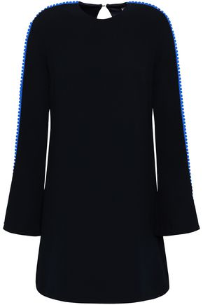 GALVAN  London Pompom-trimmed crepe mini dress