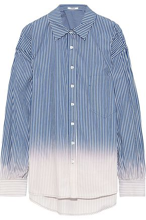 DEREK LAM 10 CROSBY Dégradé striped cotton-poplin shirt