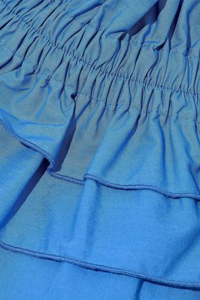 DEREK LAM 10 CROSBY Tiered ruffled cotton-poplin top